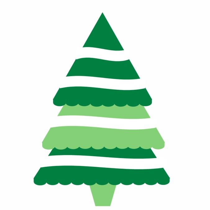 christmas tree clipart free - Christmas Tree Art