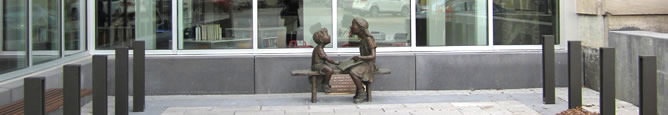 Library Sculpture of Children