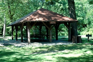 Linden Shelter in Brookside Park