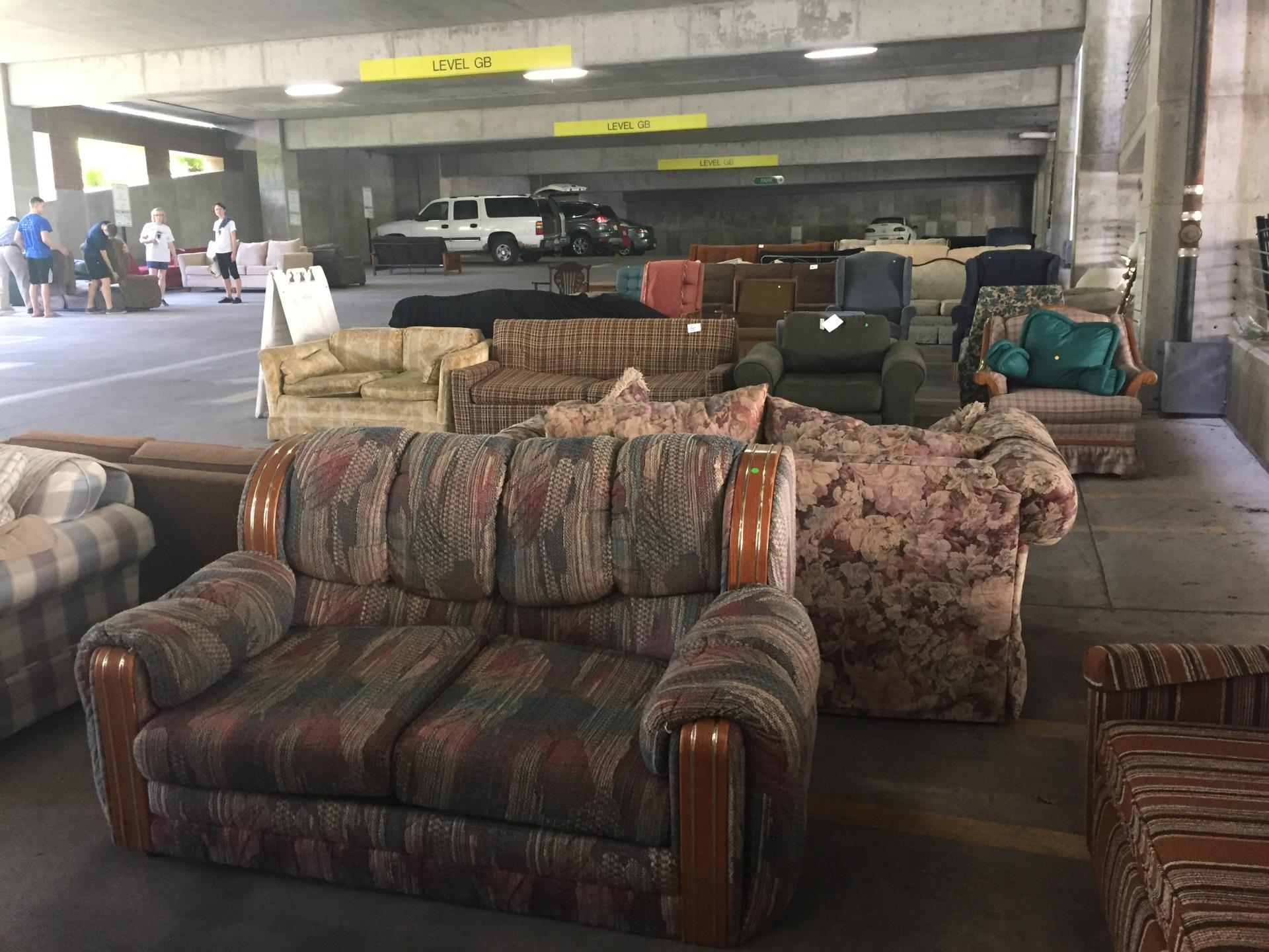 Couches at the 2017 Rummage Rampage event