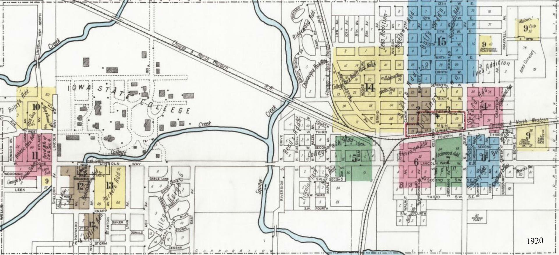 Sanborn 1920 area map