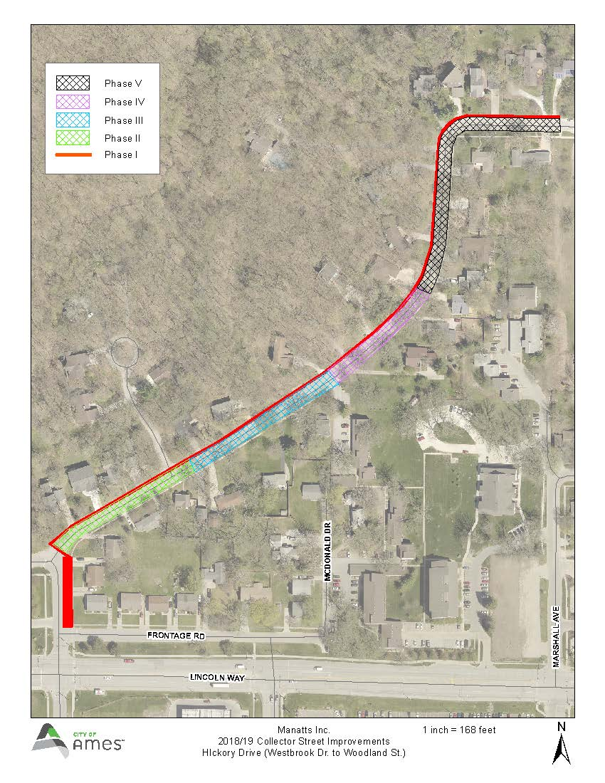 Map of Hickory Drive Improvements Project 2019