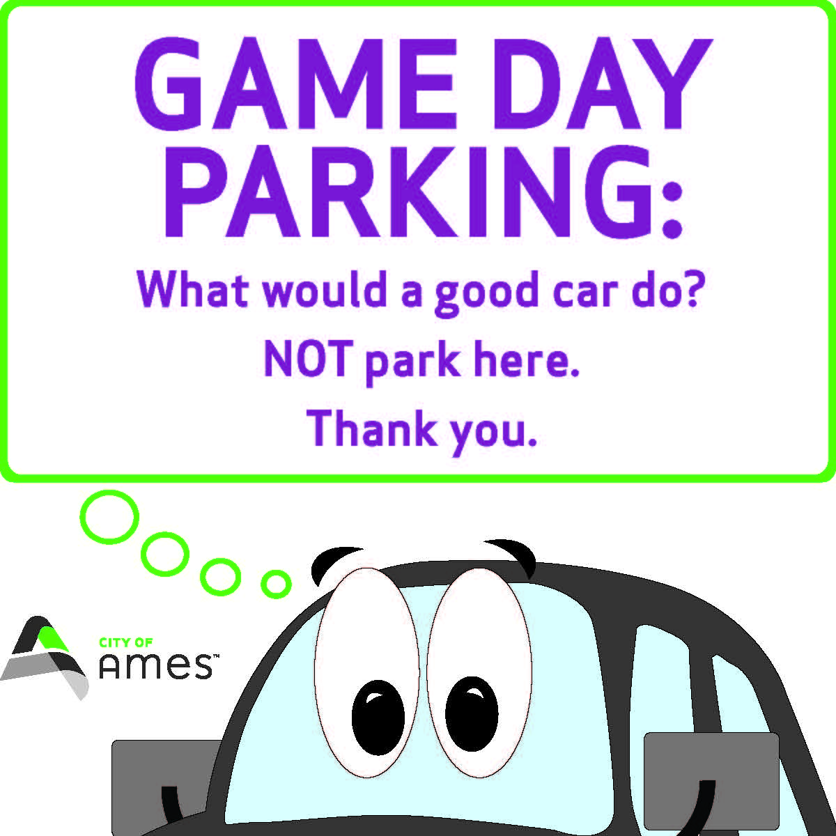 Game Day Parking graphic