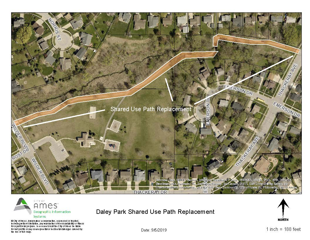 Daley Park Shared Use Path Map