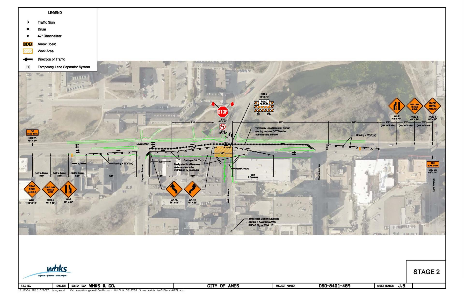 Welch Avenue Reconstruction stage 2 map
