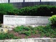 municipal Water Plant Concrete Sign