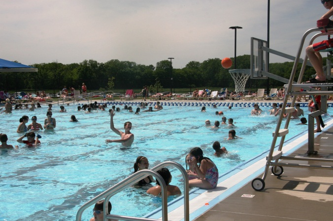 Children swimming at the Furman Aquatic Center