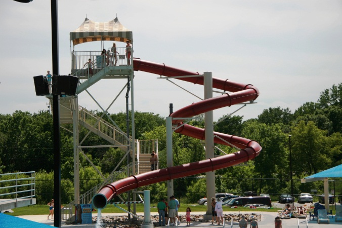 Water slide at the Furman Aquatic Center