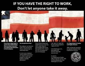 Right to Work Poster in English