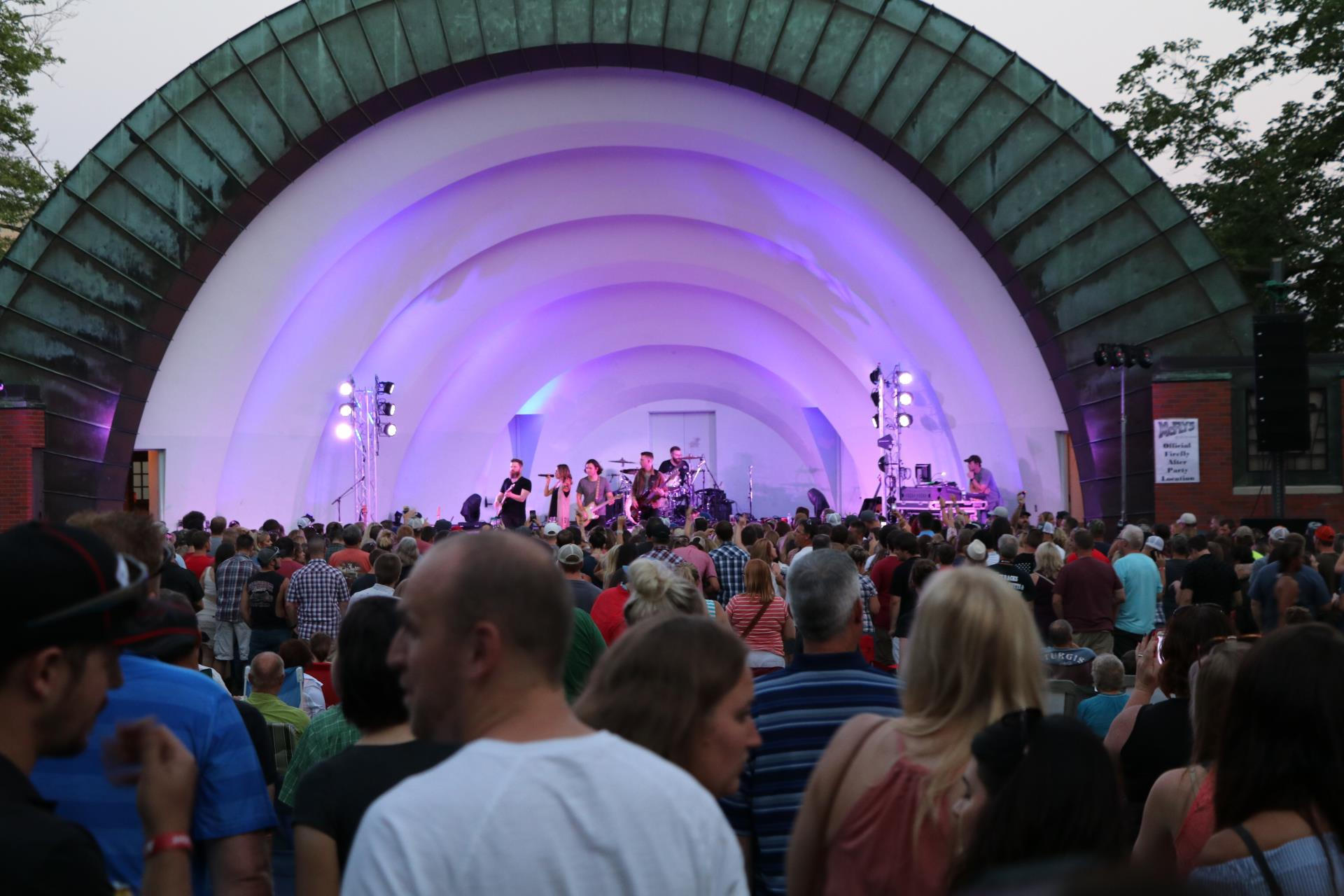 Durham Bandshell during a concet