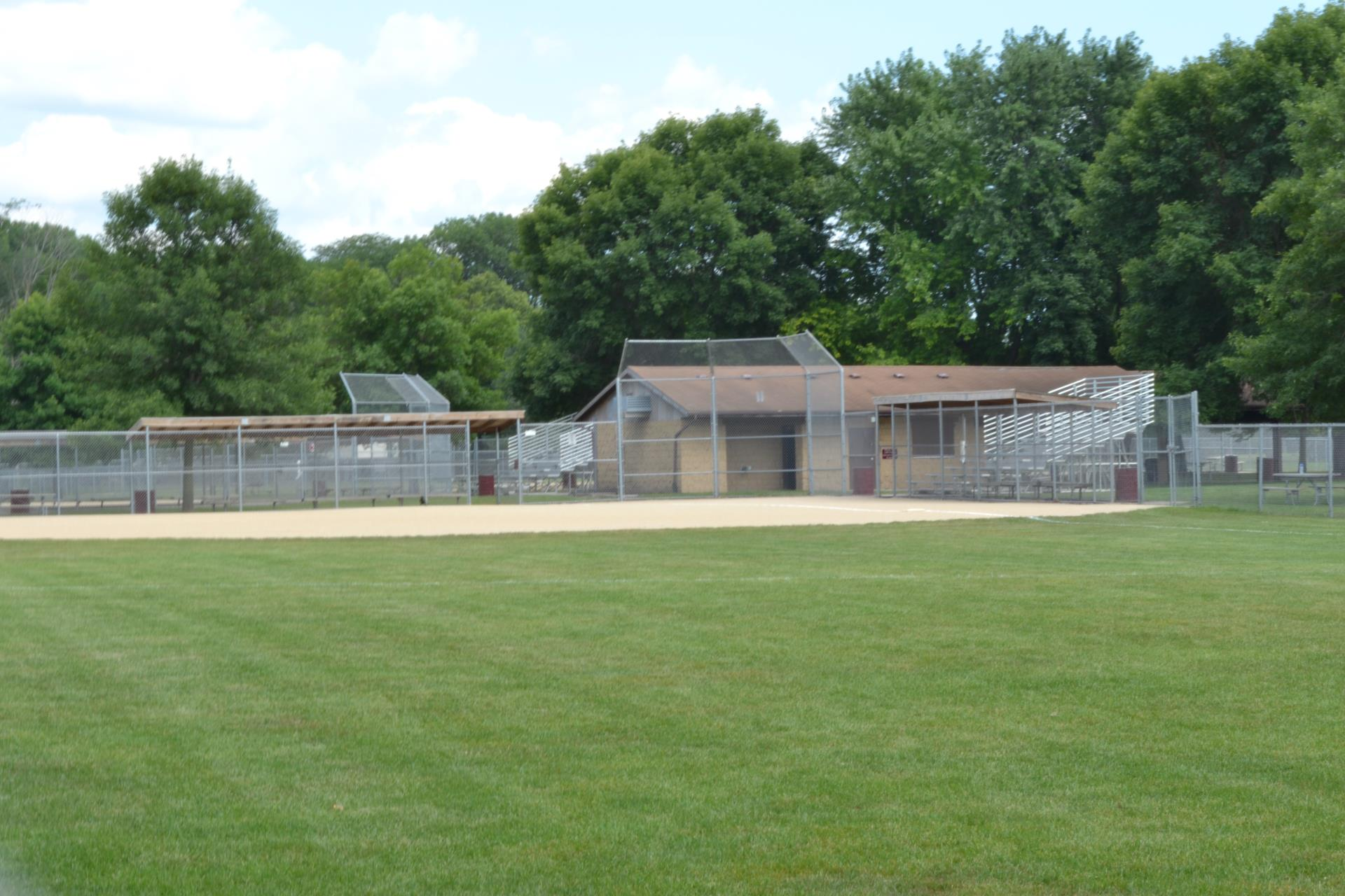 Ball diamond at River Valley park