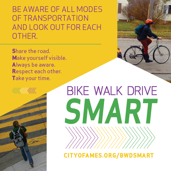 Bike Walk Drive SMART Card - Front