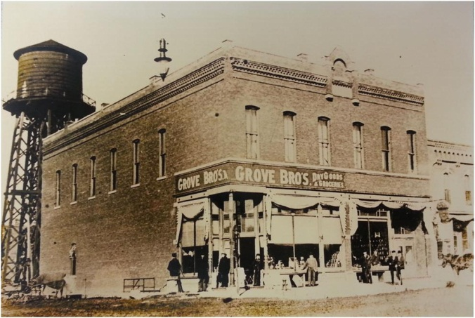 Historical photo of Grove Bro's Dry Goods and Groceries