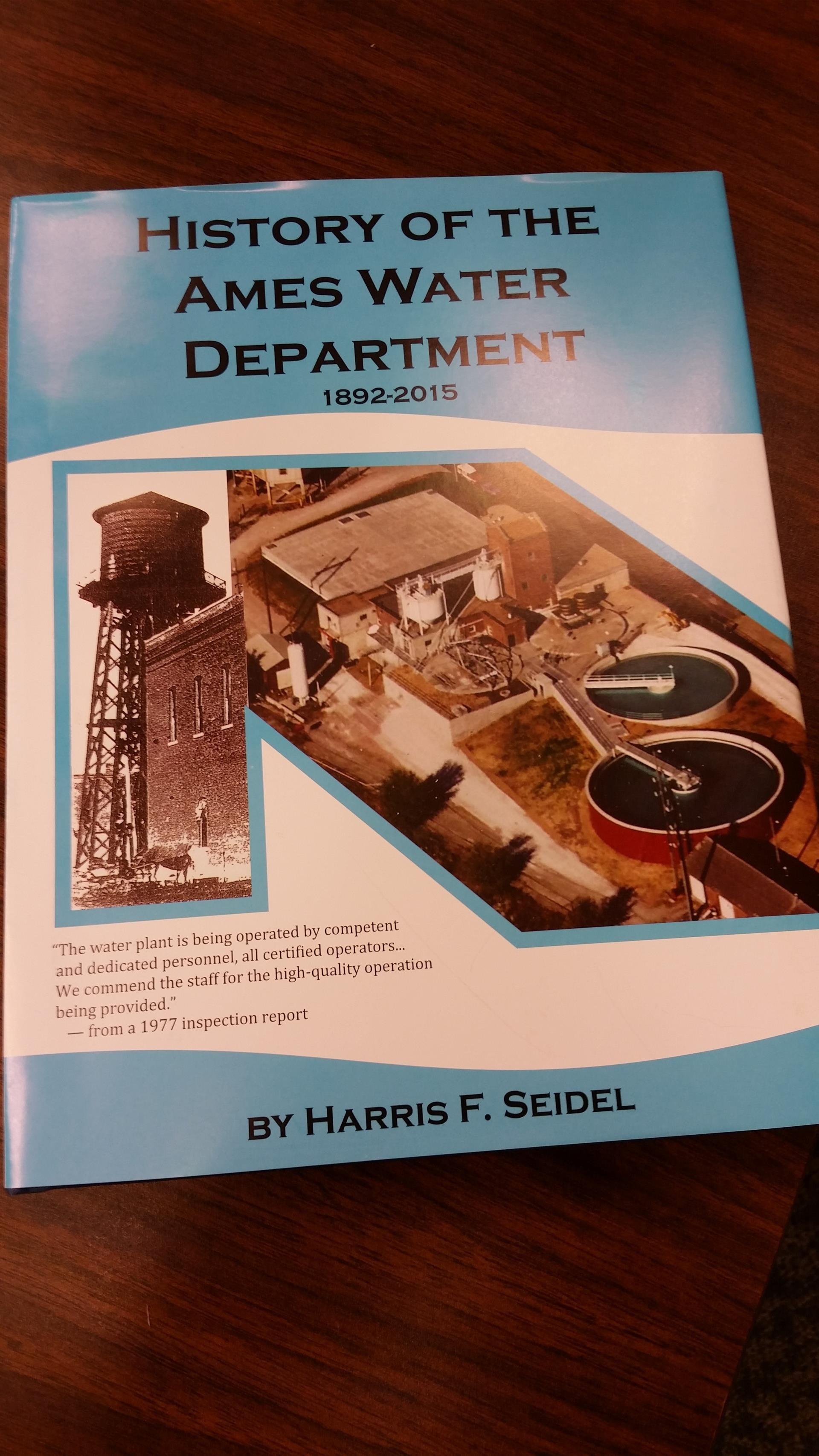 Front cover of History of the Ames Water Department book