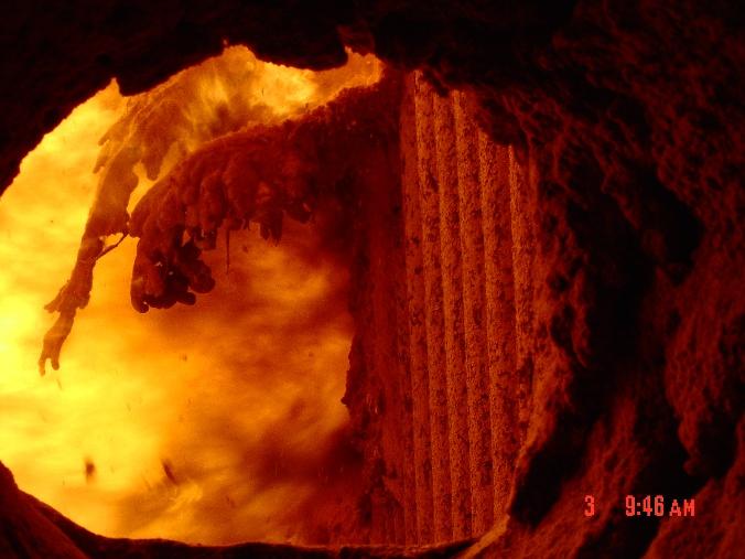 Slag on Boiler Walls