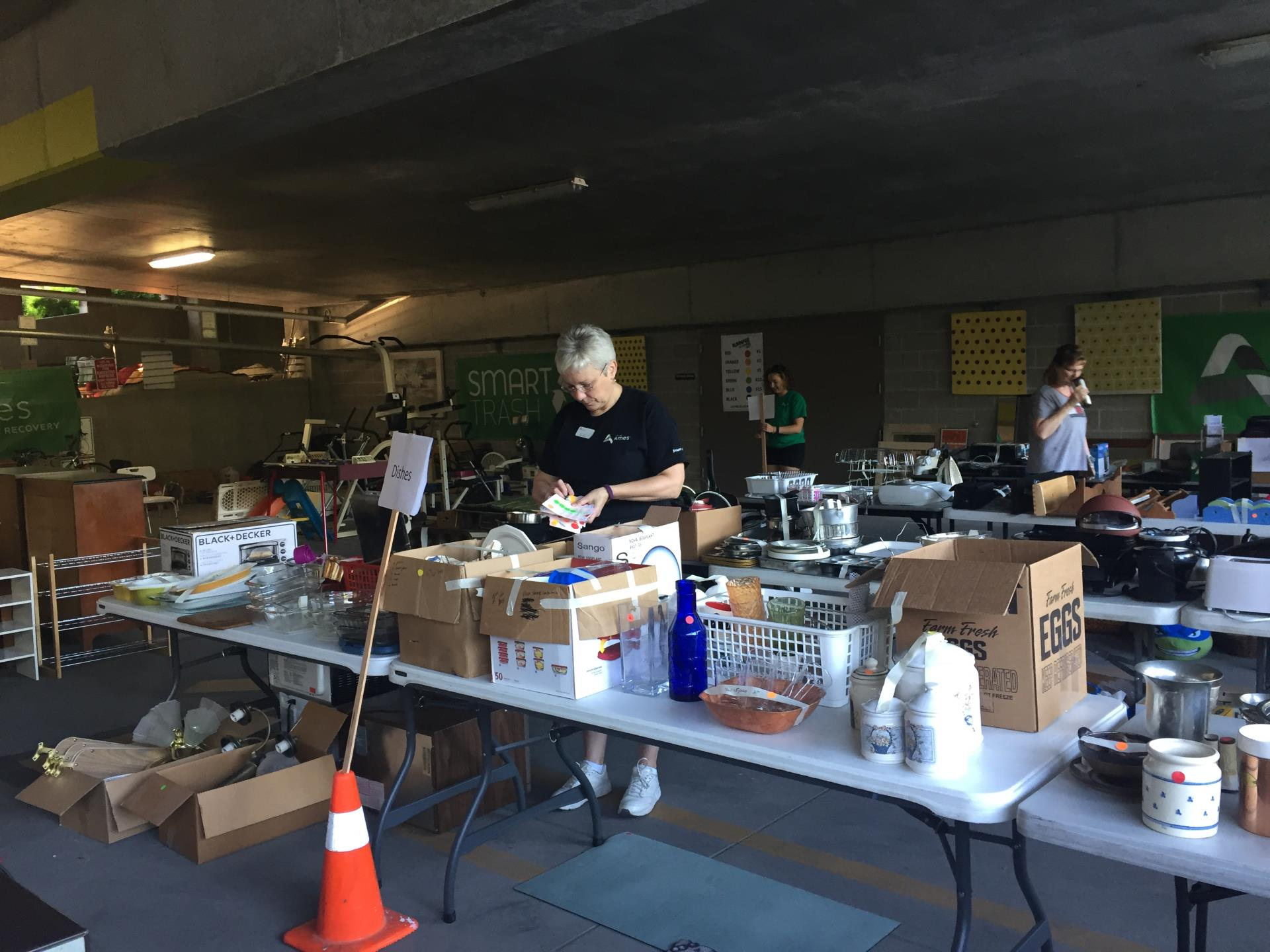 Tables of items at the 2017 Rummage Rampage